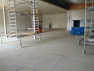 Sanierung einer Fleischerei mit einem Bodensystem auf Kunstharzbasis